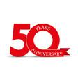50 years anniversary simple design logo