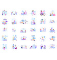a large set business scenes characters vector image