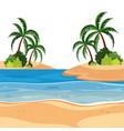a summer beach landscape vector image vector image