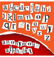 Alphabet clippings vector image