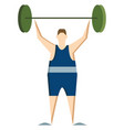 athletic lifting weight or color vector image