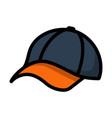 baseball cap icon vector image vector image