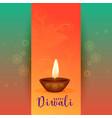 beautiful happy diwali festival greeting design vector image vector image