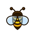 Bee Logo Sign Icon vector image