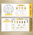 Beer bar menu design vector image vector image