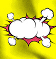 Big retro style comic book explosion cloud vector image