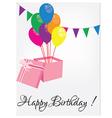 Birthday postcard vector image vector image