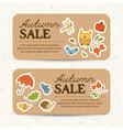 brown vintage autumn sale horizontal banners vector image vector image