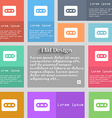 Cassette icon sign Set of multicolored buttons vector image vector image