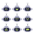 chatbot avatar computer chat bots android robot vector image vector image