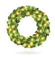 Christmas garland wreath image vector image vector image