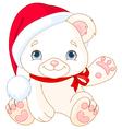 Christmas Polar Bear vector image vector image