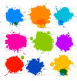 Colorful Isolated Blots - Splashes Set vector image vector image