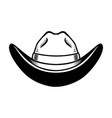 cowboy hat isolated on white background design vector image vector image