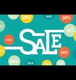 creative big discounted sale banner design vector image vector image