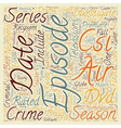 CSI Season 2 DVD Review text background wordcloud vector image vector image
