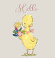 cute little duck vector image vector image