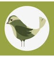cute ornamental bird icon vector image vector image