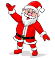 Cute Santa Cartoon Waving vector image vector image