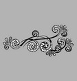 decorative monograms and calligraphic borders vector image vector image