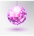 disco ball isolated night vector image vector image