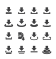download icon vector image vector image