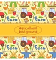 farm elements in doodle style vector image vector image