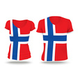 Flag shirt design of Jan Mayen vector image vector image