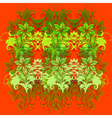 flowers on red background vector image vector image