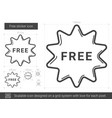 free sticker line icon vector image