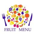 fruit set for table menu vector image