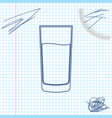 glass with water line sketch icon isolated on vector image vector image