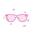 goggles icon design vector image