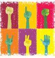 grunge pop art hands vector image