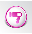 Hairdryer sign icon Hair drying symbolBlowing hot vector image vector image