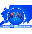 happy independence day australia greeting card vector image