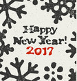 Happy New Year 2017 Postcard Grunge Design On vector image vector image