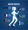 healthy lifestyle sport gym vector image