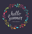 hello summer modern hand drawn lettering vector image vector image