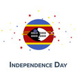 independence day of swaziland patriotic banner vector image vector image
