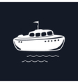 Lifeboat Isolated on Black Background vector image