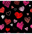 Love pattern background vector image vector image