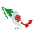 map mexico vector image vector image