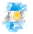 map of Argentina design vector image vector image