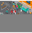 Martial Arts People Isometric Banners vector image vector image