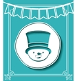 merry christmas frame with snowman isolated icon vector image