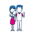 mom and dad holding baby together family image vector image
