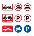 no parking sign parking forbidden design vector image