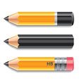 object three pencils vector image vector image