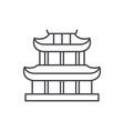 pagoda line icon concept pagoda linear vector image